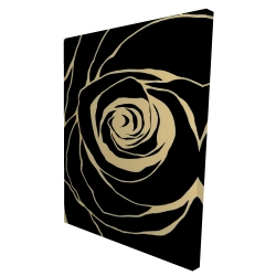 Canvas 36 x 48 - 3D - Black rose