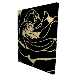 Canvas 36 x 48 - 3D - Cutout black rose