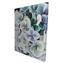 Canvas 36 x 48 - 3D - Colorful hydrangea flowers