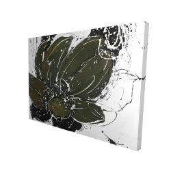 Canvas 36 x 48 - 3D - Abstract flower with paint splash