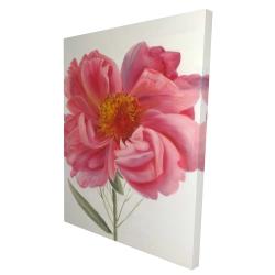 Canvas 36 x 48 - 3D - Pink peony flower