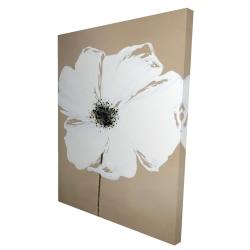Canvas 36 x 48 - 3D - Abstract color splash petals flower