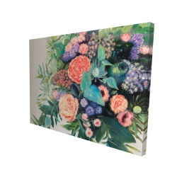 Canvas 36 x 48 - 3D - Flowers melody