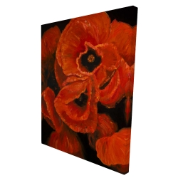Canvas 36 x 48 - 3D - Poppy bouquet