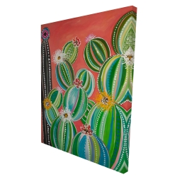 Canvas 36 x 48 - 3D - Rainbow cactus