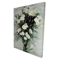 Canvas 36 x 48 - 3D - Lisianthus white bouquet