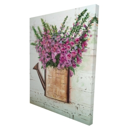 Canvas 36 x 48 - 3D - Purple foxglove flowers