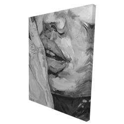 Canvas 36 x 48 - 3D - Luscious lips