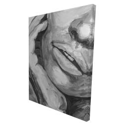 Canvas 36 x 48 - 3D - Irresistible lips