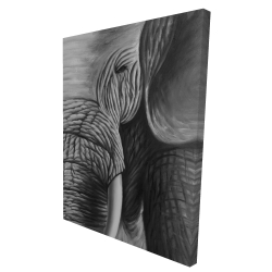 Canvas 36 x 48 - 3D - Elephant