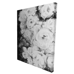Canvas 36 x 48 - 3D - Monochrome rose garden