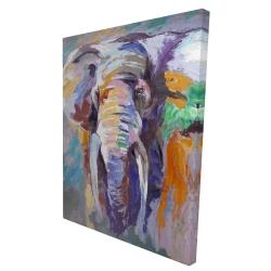 Canvas 36 x 48 - 3D - Elephant in pastel color