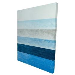 Canvas 36 x 48 - 3D - Blue stripes