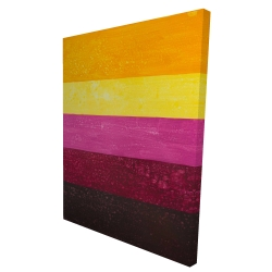 Canvas 36 x 48 - 3D - Live stripes
