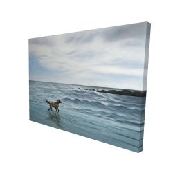 Canvas 36 x 48 - 3D - Dog on the beach