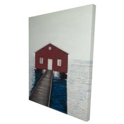 Canvas 36 x 48 - 3D - Boathouse