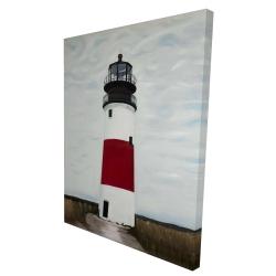 Canvas 36 x 48 - 3D - Sankaty head lighthouse