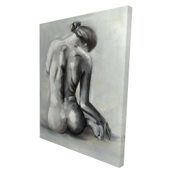 Canvas 36 x 48 - 3D - Nude woman from behind