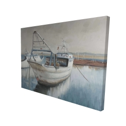 Canvas 36 x 48 - 3D - Fishing boat desatured