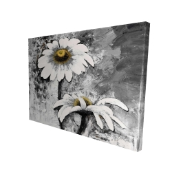 Canvas 36 x 48 - 3D - Abstract daisies flowers