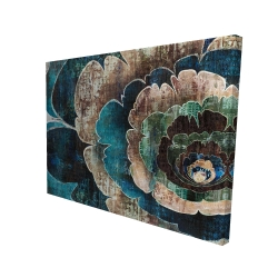 Canvas 36 x 48 - 3D - Blue flower montage