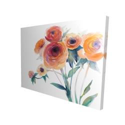 Canvas 36 x 48 - 3D - Watercolor flowers
