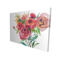 Canvas 36 x 48 - 3D - Watercolor bouquet of flowers
