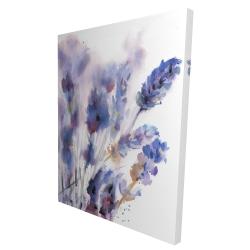 Canvas 36 x 48 - 3D - Watercolor lavender flowers with blur effect