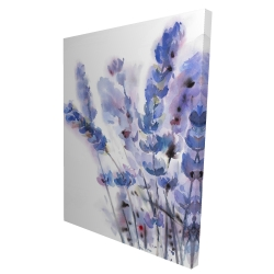 Canvas 36 x 48 - 3D - Watercolor lavender flowers