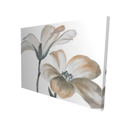 Canvas 36 x 48 - 3D - Beautiful desaturated flowers