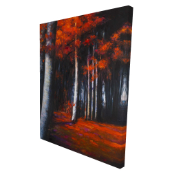 Canvas 36 x 48 - 3D - Mysterious forest