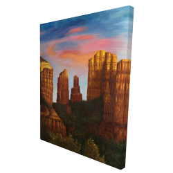 Canvas 36 x 48 - 3D - Cathedral rock in arizona