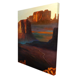 Canvas 36 x 48 - 3D - Monument valley tribal park in arizona