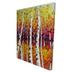 Canvas 36 x 48 - 3D - Colored birches