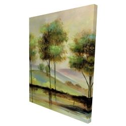 Canvas 36 x 48 - 3D - Trees near the lake