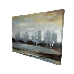 Canvas 36 x 48 - 3D - Grey landscape