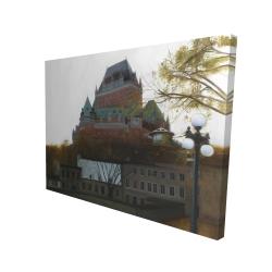 Canvas 36 x 48 - 3D - Le château de frontenac in autumn