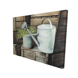 Canvas 36 x 48 - 3D - Vintage watering can