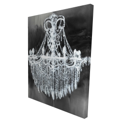 Canvas 36 x 48 - 3D - Big glam chandelier