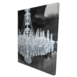 Canvas 36 x 48 - 3D - Glam chandelier