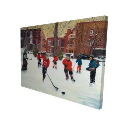 Canvas 36 x 48 - 3D - Young hockey players