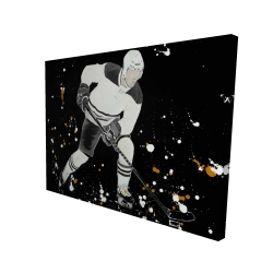 Canvas 36 x 48 - 3D - Hockey player in action