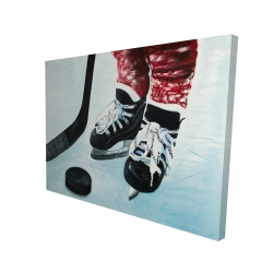 Canvas 36 x 48 - 3D - Young hockey player