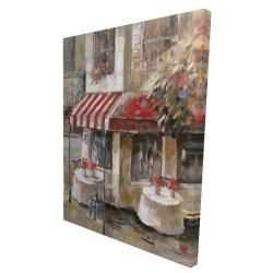 Canvas 36 x 48 - 3D - Sunny restaurant terrace