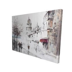 Canvas 36 x 48 - 3D - Gray city street