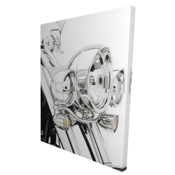 Canvas 36 x 48 - 3D - Motorcycle light
