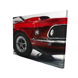 Canvas 36 x 48 - 3D - Classic red car
