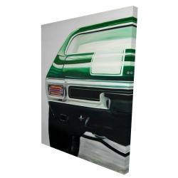 Canvas 36 x 48 - 3D - Classic dark green car