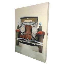 Canvas 36 x 48 - 3D - Vintage luxury car