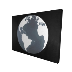 Canvas 36 x 48 - 3D - Earth satellite view